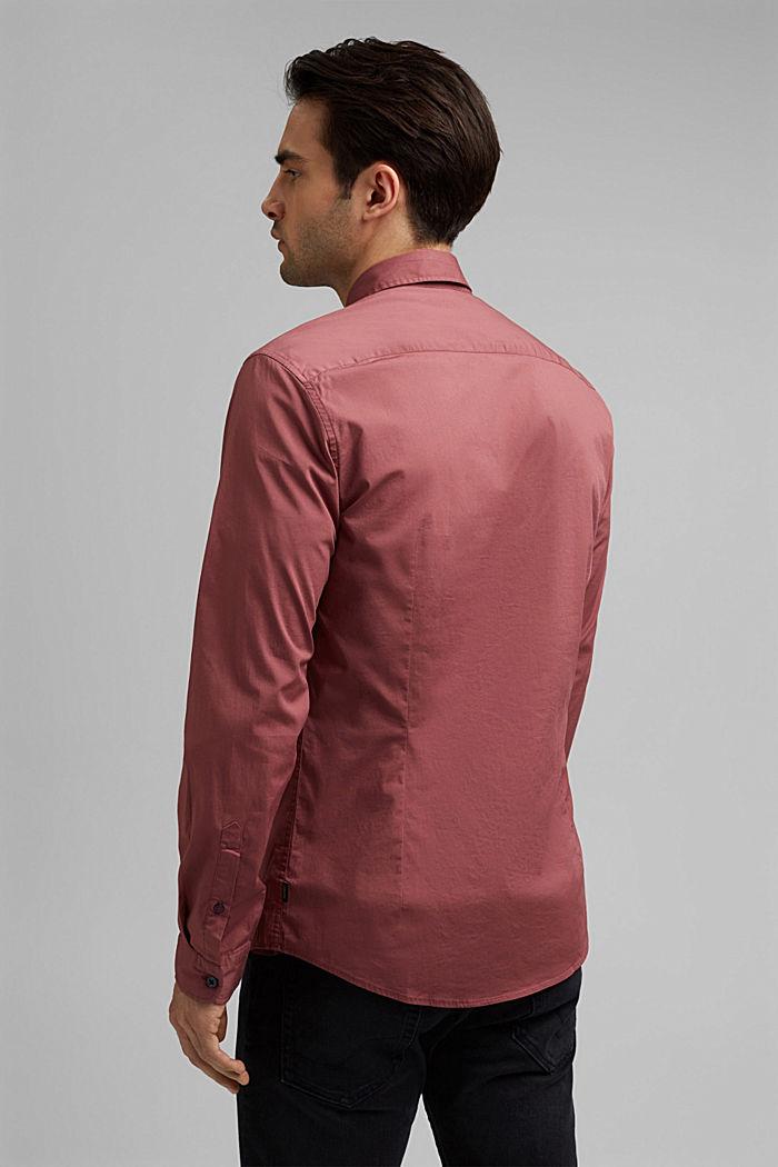 Koszula popelinowa z elastycznej bawełny, BERRY RED, detail image number 3