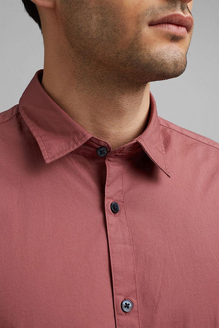 Koszula popelinowa z elastycznej bawełny, BERRY RED, detail image number 2