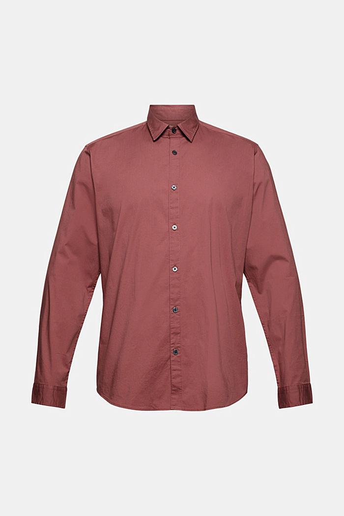 Popeline overhemd van katoen-stretch