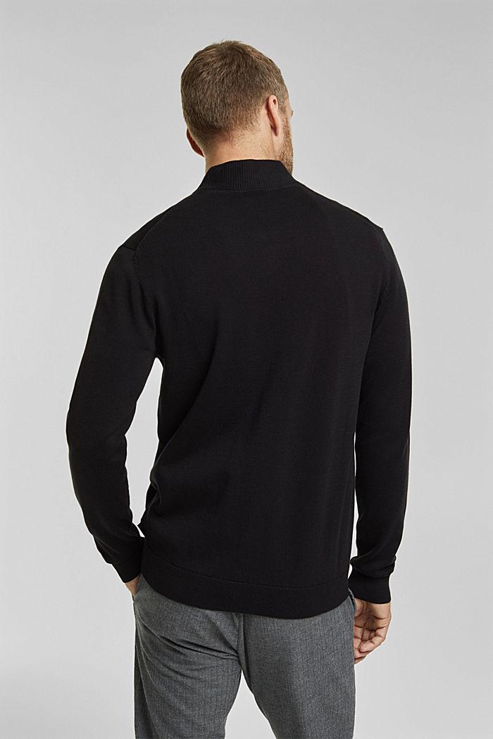 Strickjacke aus 100% Organic Cotton, BLACK, detail image number 3