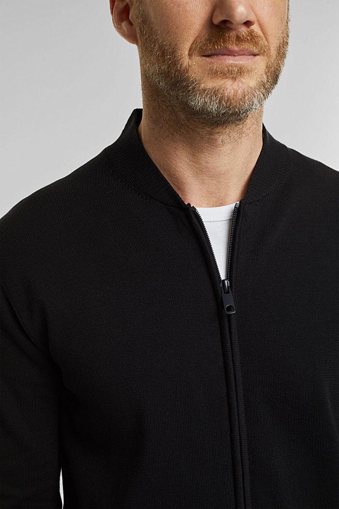 Strickjacke aus 100% Organic Cotton, BLACK, detail image number 2