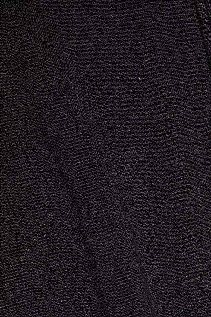 Strickjacke aus 100% Organic Cotton, BLACK, detail image number 4