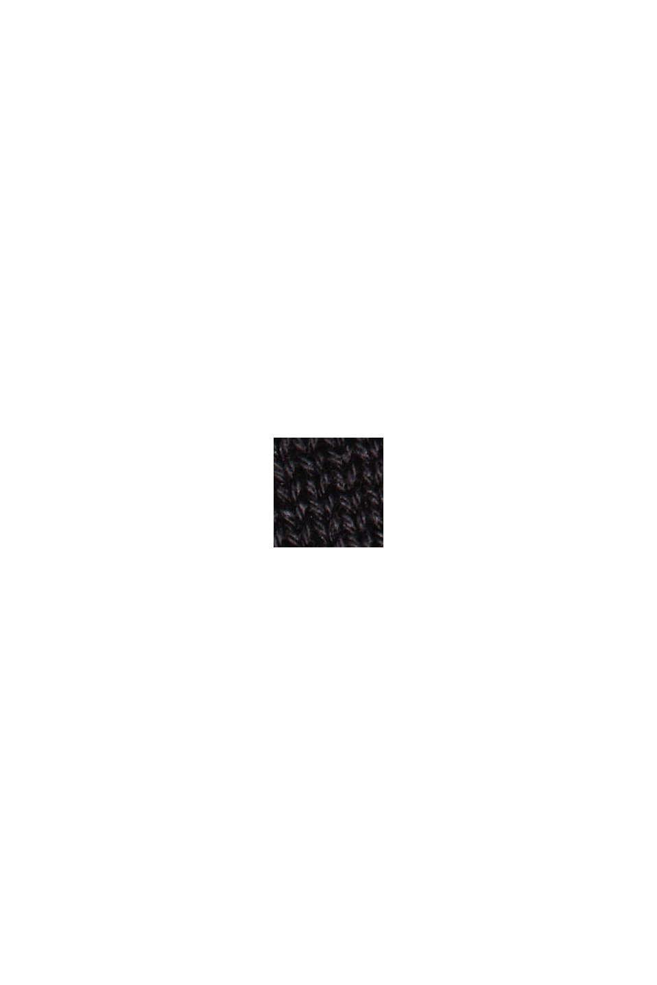 Strickjacke aus 100% Organic Cotton, BLACK, swatch