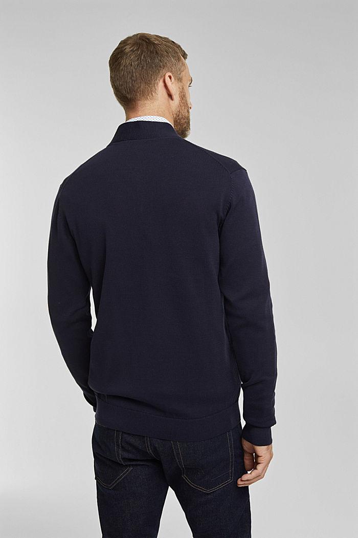 Cardigan in 100% organic cotton, NAVY, detail image number 3