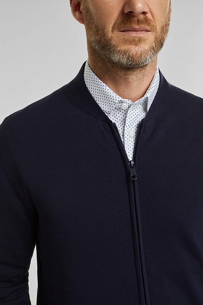 Cardigan in 100% organic cotton, NAVY, detail image number 2