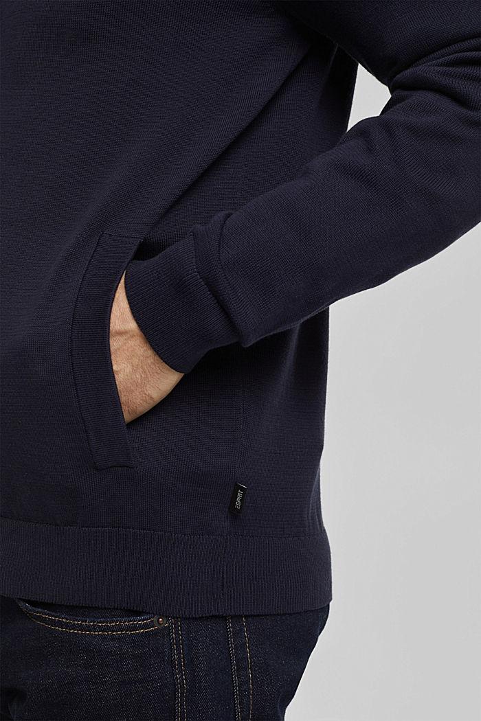 Cardigan in 100% organic cotton, NAVY, detail image number 5