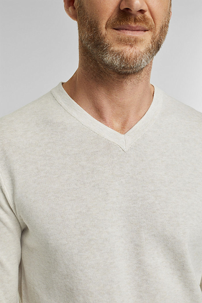 Pull-over 100% coton biologique, OFF WHITE, detail image number 2