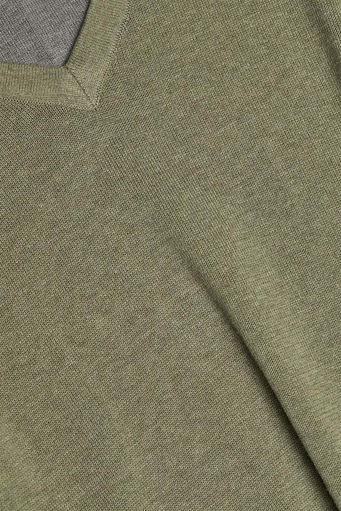 Trui van 100% organic cotton, LIGHT KHAKI, detail image number 4
