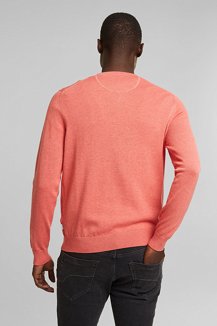 Pullover aus 100% Organic Cotton, CORAL, detail image number 3