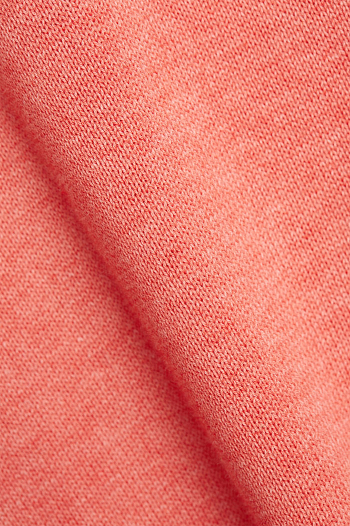 Pullover aus 100% Organic Cotton, CORAL, detail image number 4