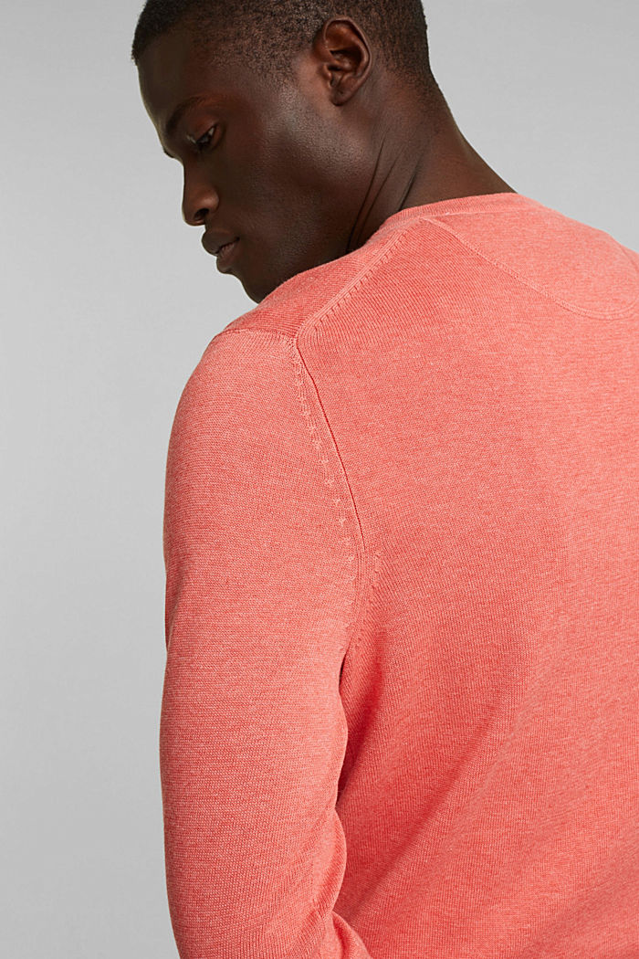 Pullover aus 100% Organic Cotton, CORAL, detail image number 5