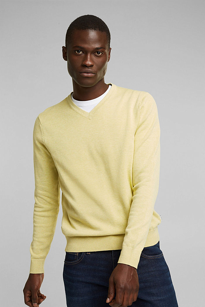 Pullover aus 100% Organic Cotton, LIGHT YELLOW, detail image number 0