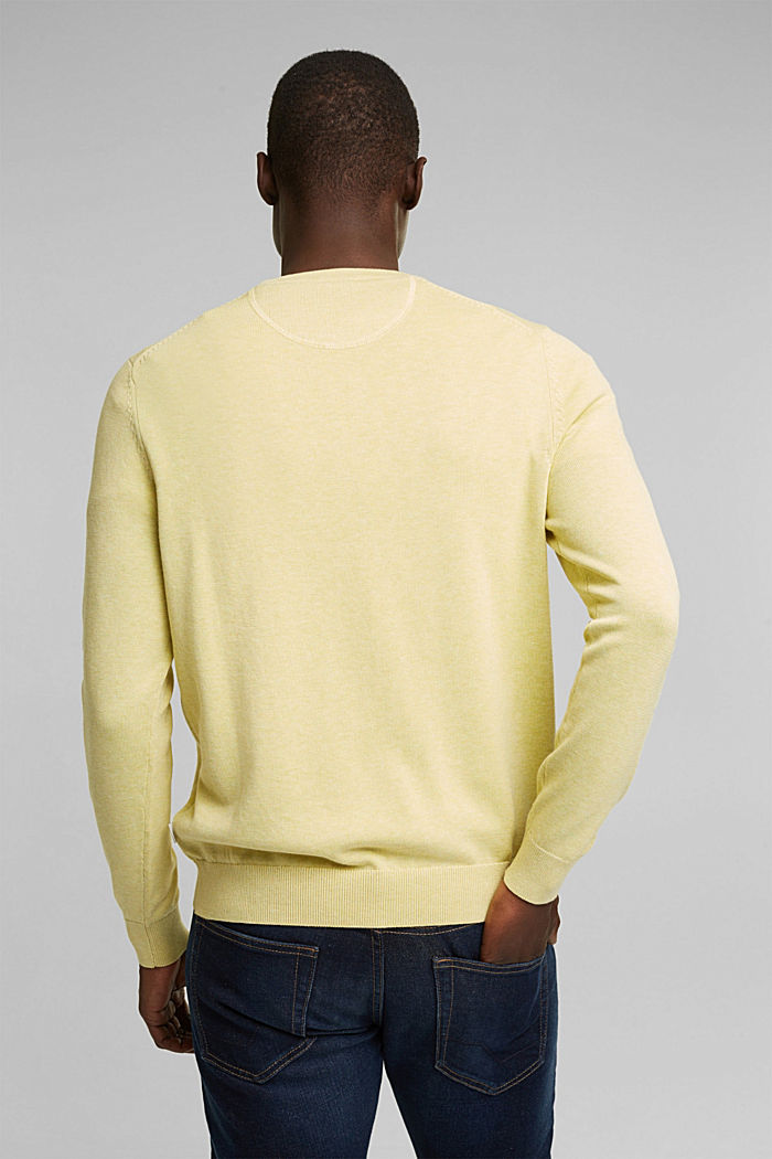 Pullover aus 100% Organic Cotton, LIGHT YELLOW, detail image number 3