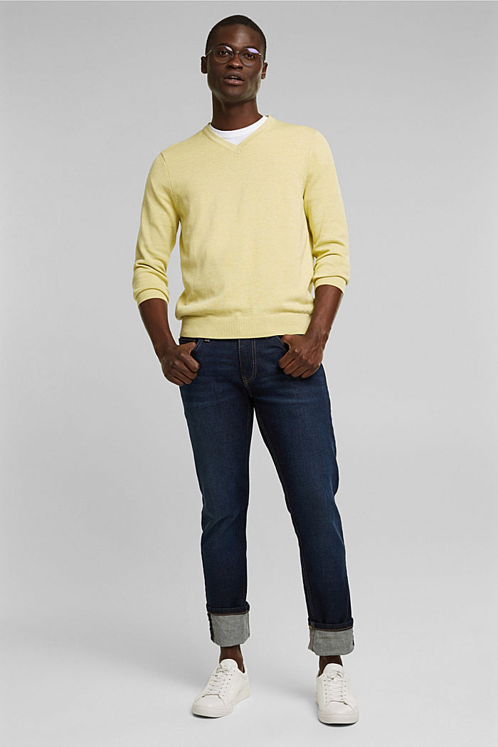 Pullover aus 100% Organic Cotton, LIGHT YELLOW, detail image number 1