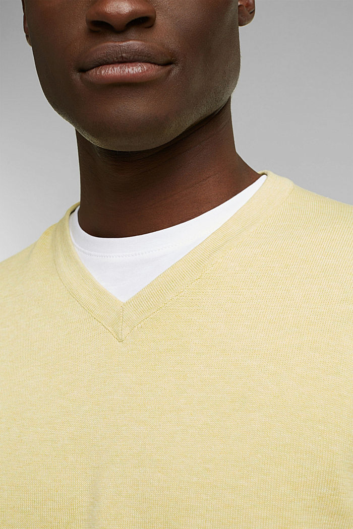 Pullover aus 100% Organic Cotton, LIGHT YELLOW, detail image number 2