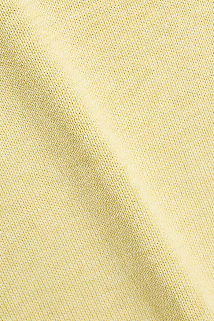 Pullover aus 100% Organic Cotton, LIGHT YELLOW, detail image number 4
