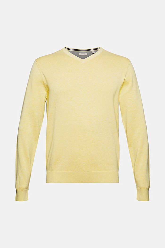 Pullover aus 100% Organic Cotton, LIGHT YELLOW, detail image number 6