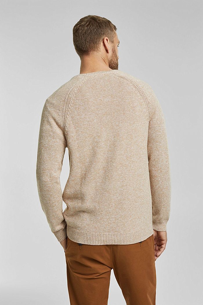 Jumper made of 100% organic cotton, BEIGE, detail image number 3