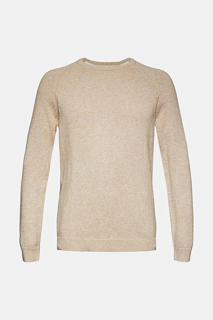 Pullover aus 100% Organic Cotton, BEIGE, overview