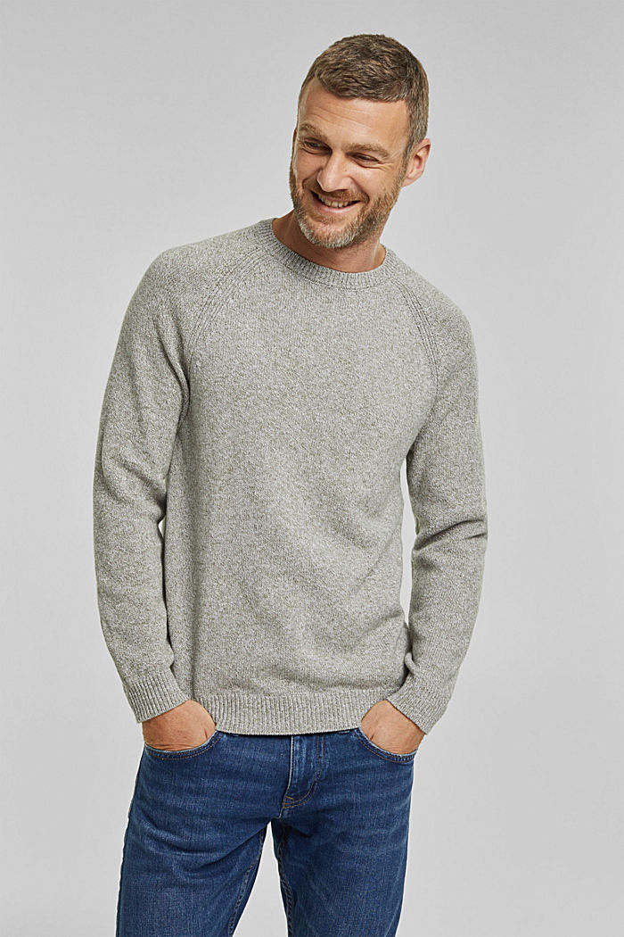 Pullover aus 100% Organic Cotton, LIGHT KHAKI, detail image number 0