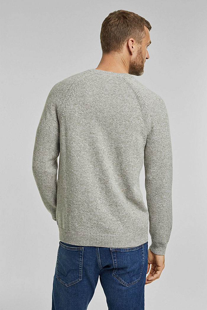 Pullover aus 100% Organic Cotton, LIGHT KHAKI, detail image number 3