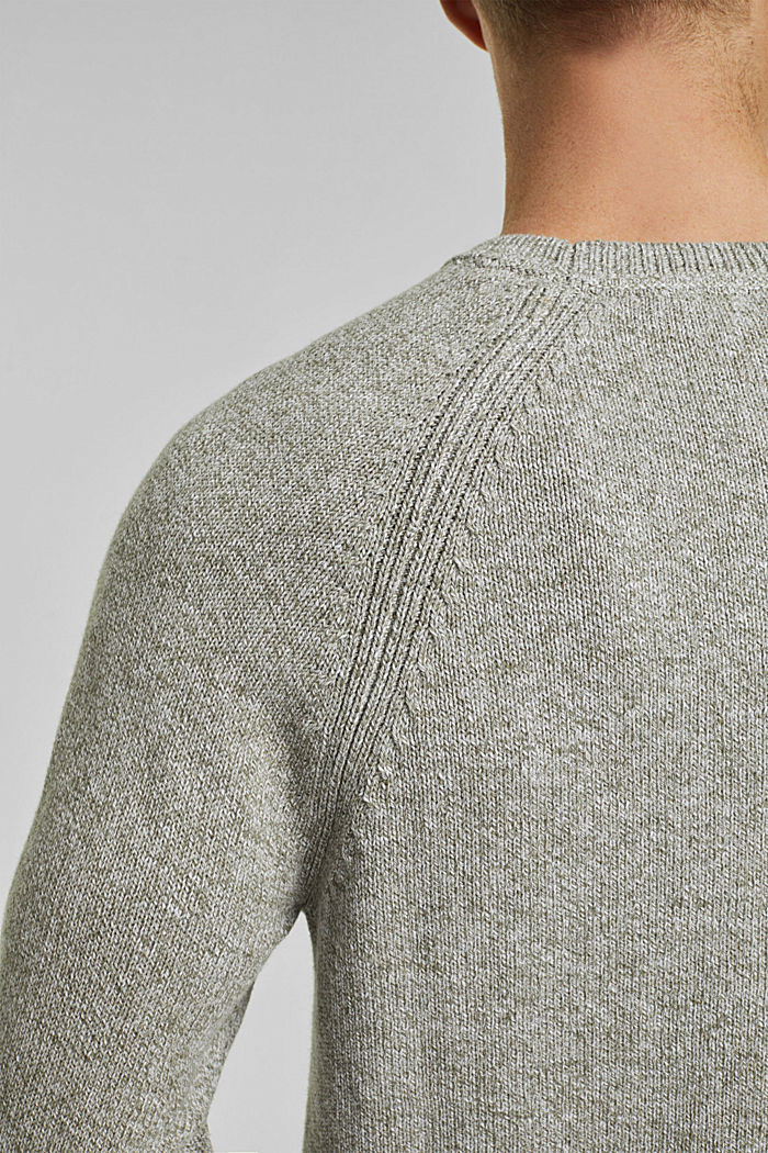 Pullover aus 100% Organic Cotton, LIGHT KHAKI, detail image number 2