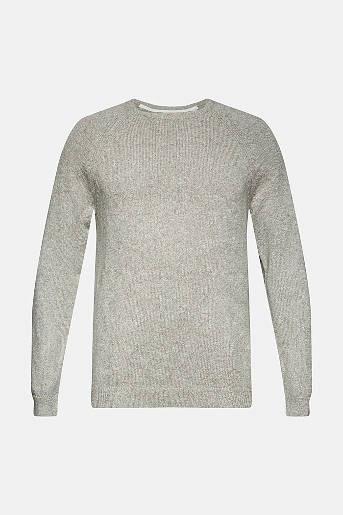 Pullover aus 100% Organic Cotton, LIGHT KHAKI, overview