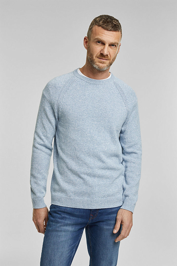 Jumper made of 100% organic cotton, GREY BLUE, detail image number 0