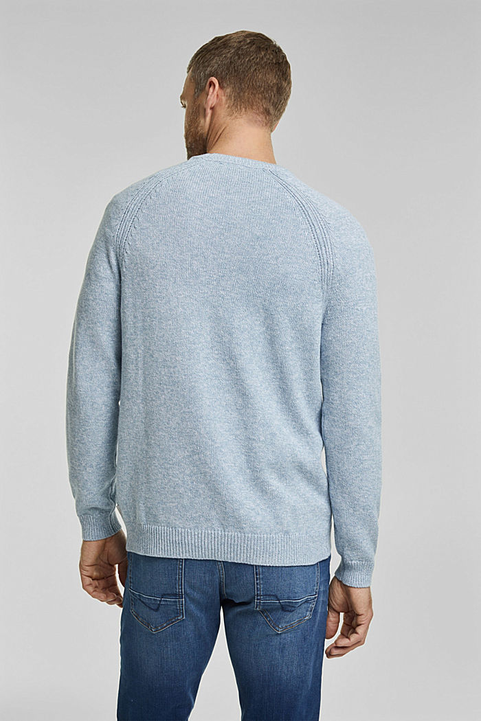 Jumper made of 100% organic cotton, GREY BLUE, detail image number 3