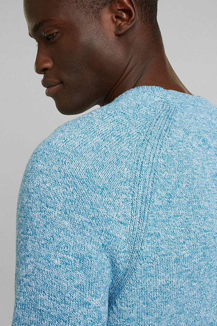 Jumper made of 100% organic cotton, PETROL BLUE, detail image number 5