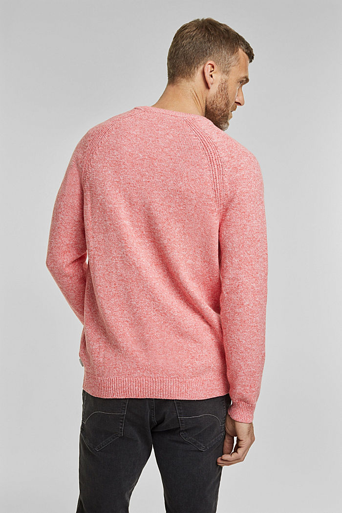 Pullover aus 100% Organic Cotton, CORAL RED, detail image number 3