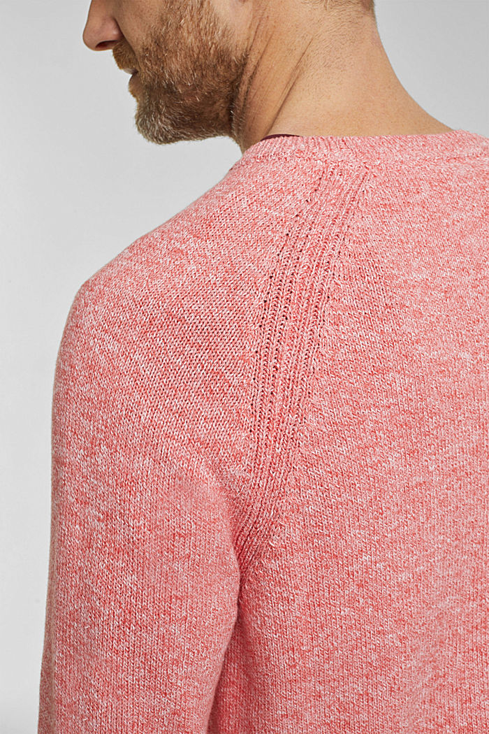 Pullover aus 100% Organic Cotton, CORAL RED, detail image number 2