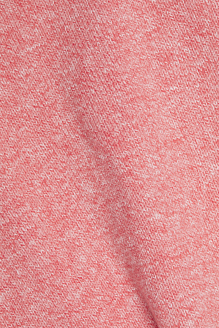 Pullover aus 100% Organic Cotton, CORAL RED, detail image number 4