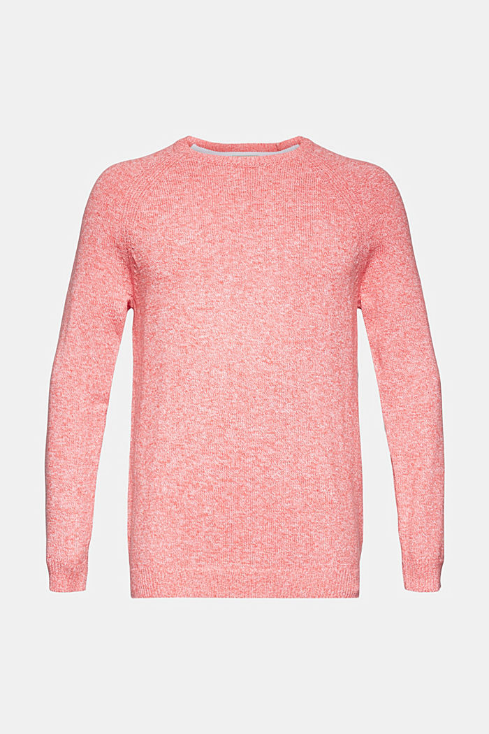 Pullover aus 100% Organic Cotton, CORAL RED, overview