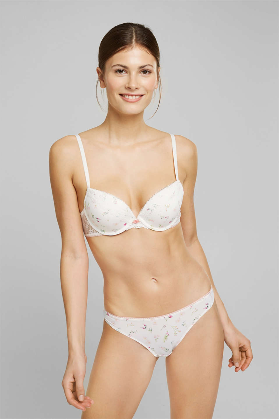 Esprit - Recycled: push-up bra with lace