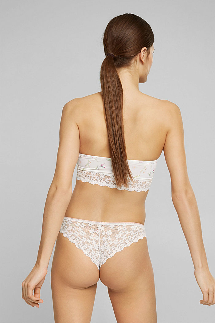 Recycelt: Hipster-Slip mit Spitze, OFF WHITE, detail image number 2