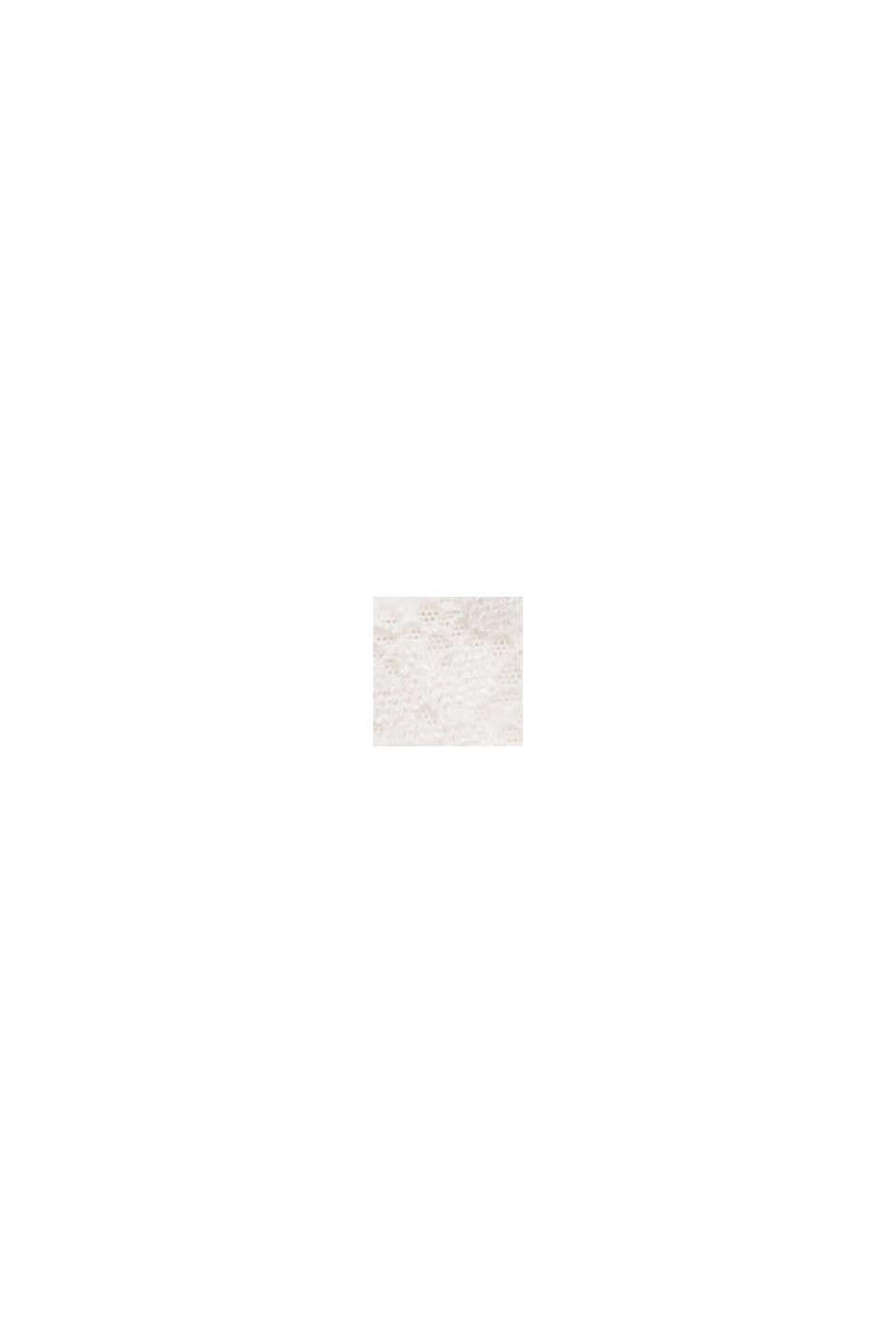 En matière recyclée: Shorty taille basse orné de dentelle, OFF WHITE, swatch