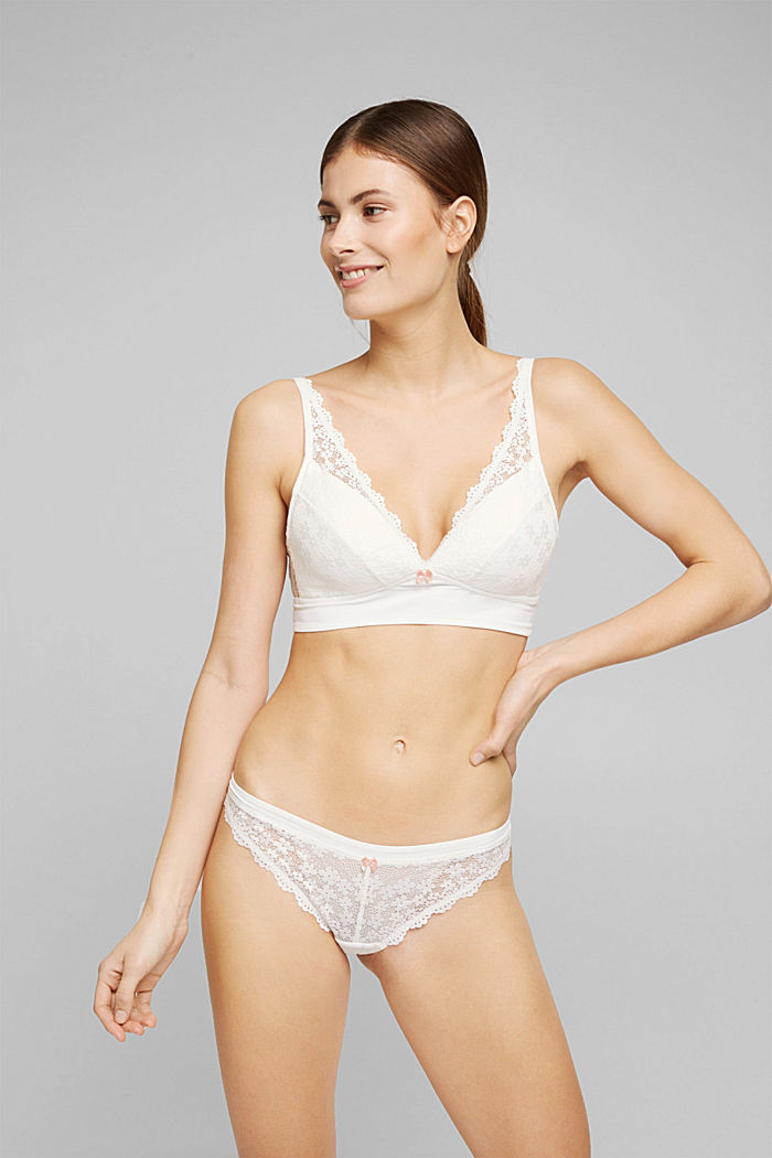 Recycled: hipster briefs with lace, OFF WHITE, detail image number 0