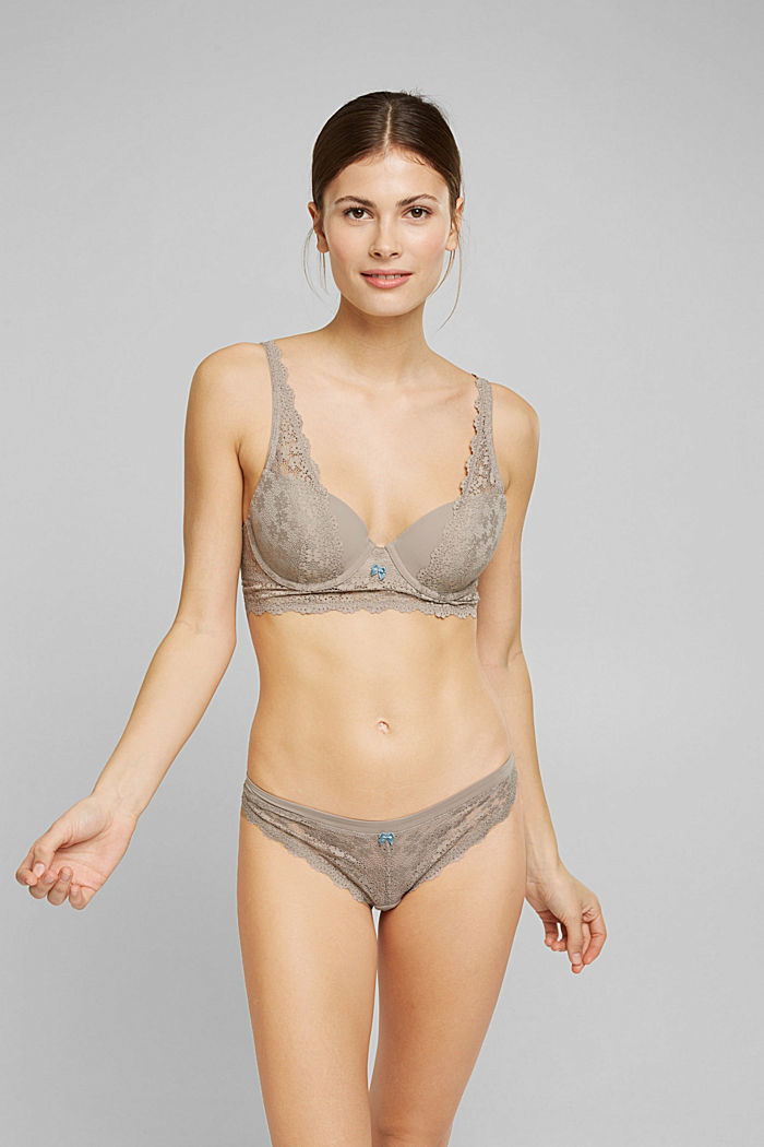 Recycelt: Hipster Slip mit Spitze, LIGHT TAUPE, detail image number 0