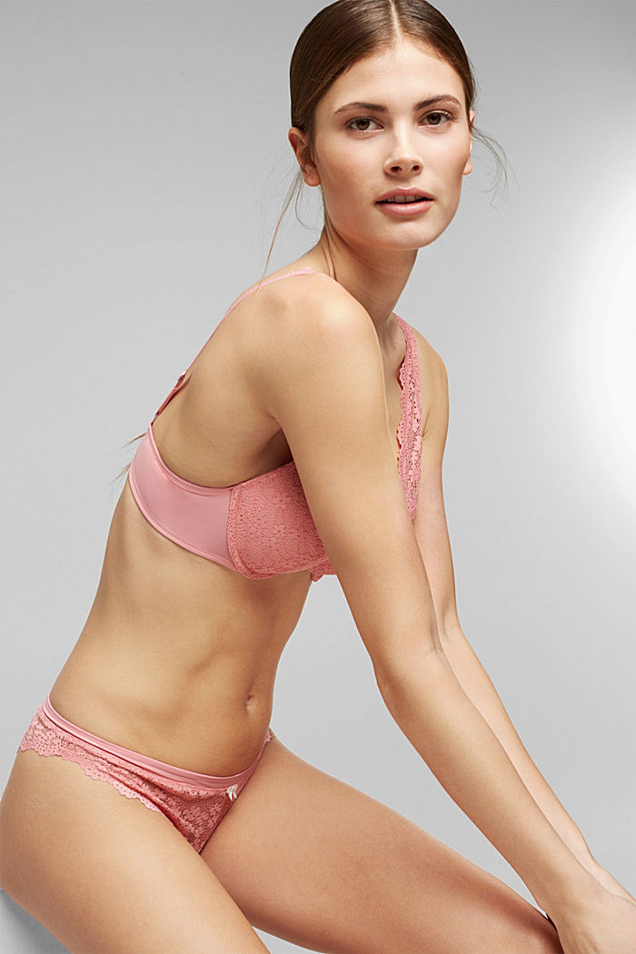 Recycled: hipster briefs with lace, CORAL, detail image number 3
