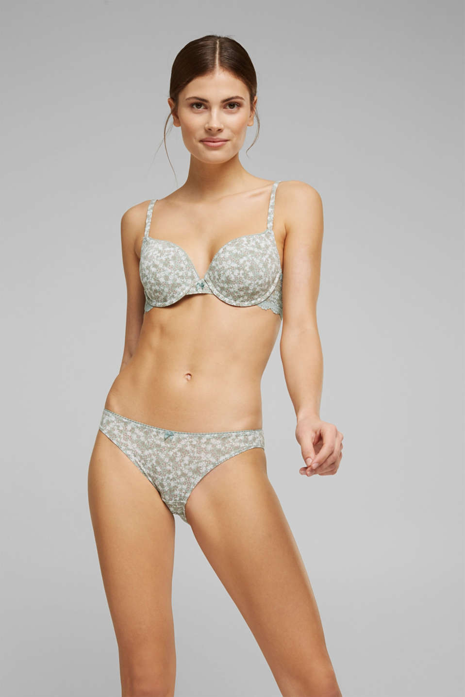 Esprit - Recycled: padded underwire bra with a print