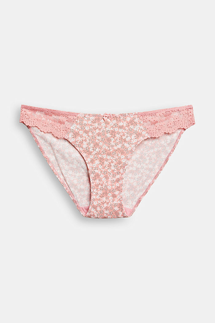 Recycled: hipster briefs with lace, CORAL, overview