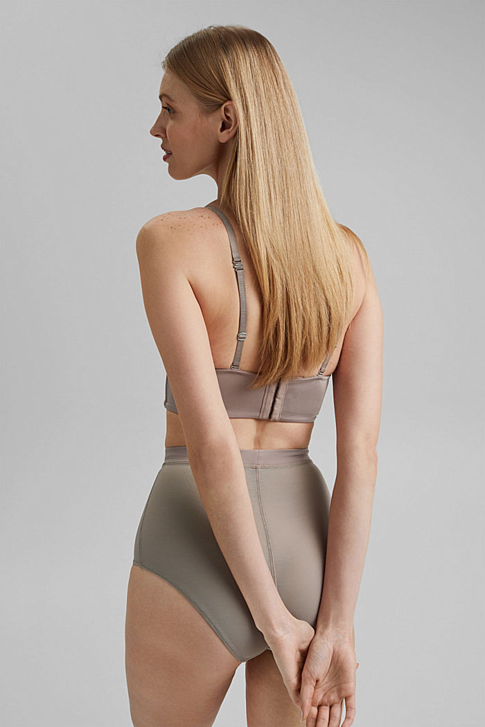 SHAPEWEAR High-Waist-Slip mit Mesh, LIGHT TAUPE, detail image number 3