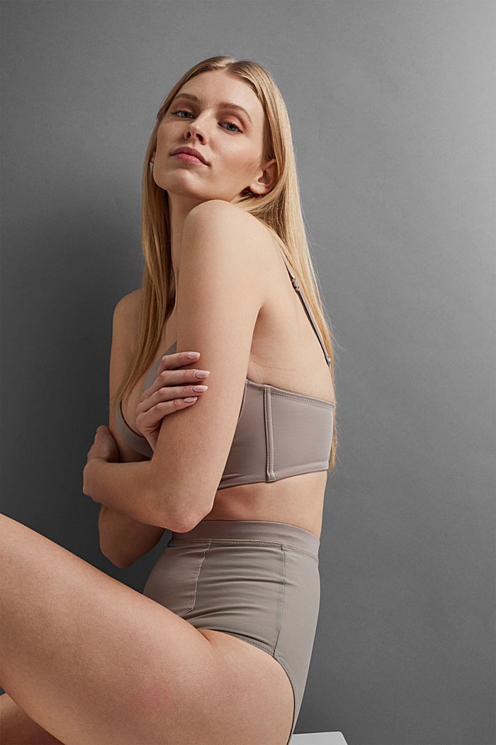 SHAPEWEAR High-Waist-Slip mit Mesh, LIGHT TAUPE, detail image number 5