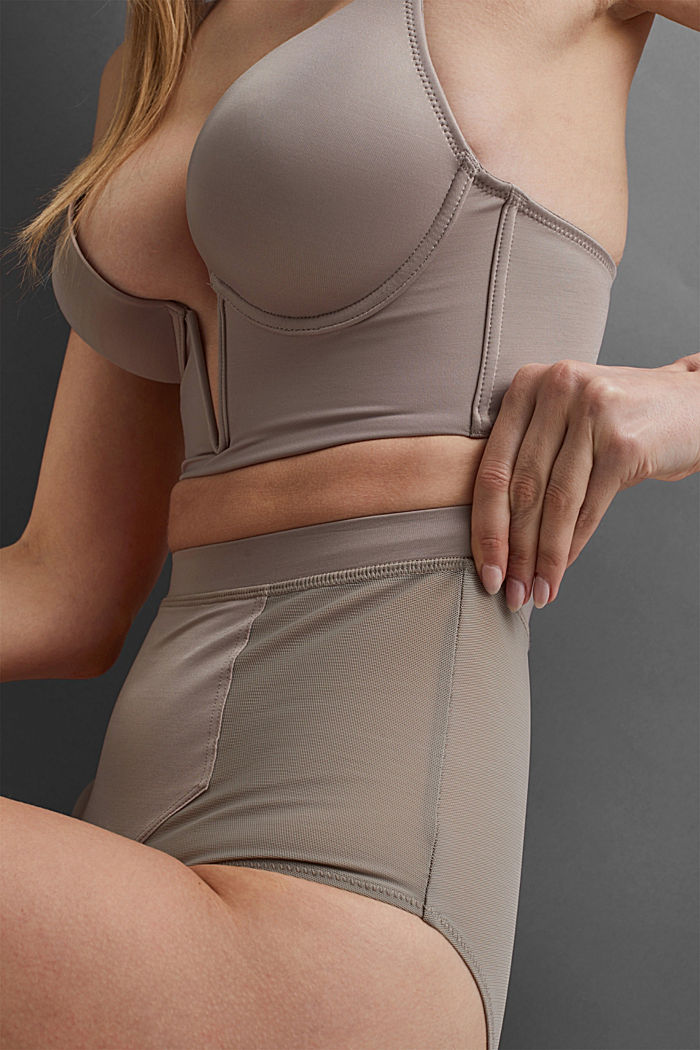 SHAPEWEAR High-Waist-Slip mit Mesh, LIGHT TAUPE, detail image number 2