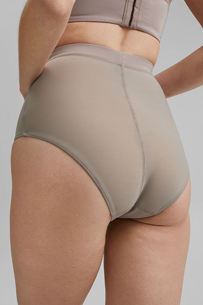SHAPEWEAR High-Waist-Slip mit Mesh, LIGHT TAUPE, detail image number 4