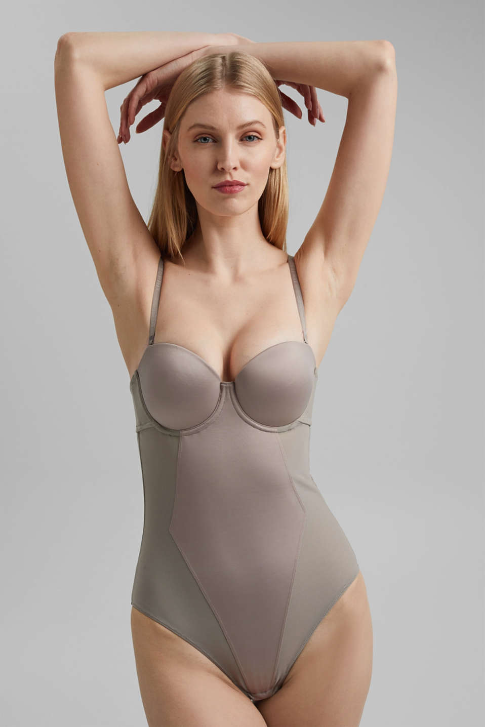 Esprit - SHAPEWEAR bodysuit in mesh fabric