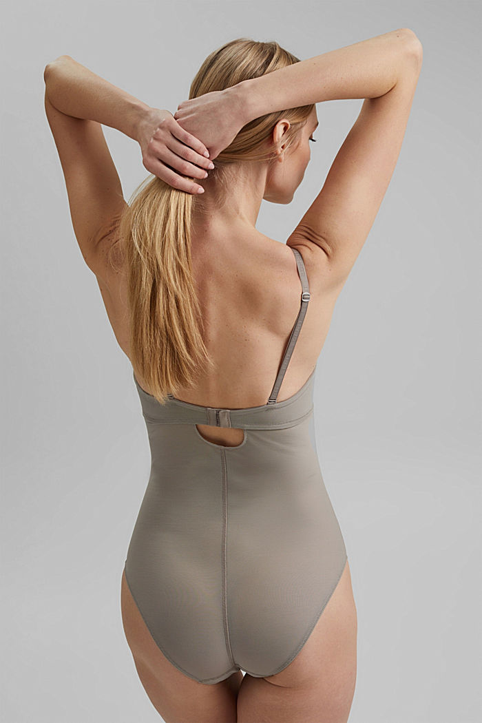 SHAPEWEAR Body aus Netzstoff, LIGHT TAUPE, detail image number 2