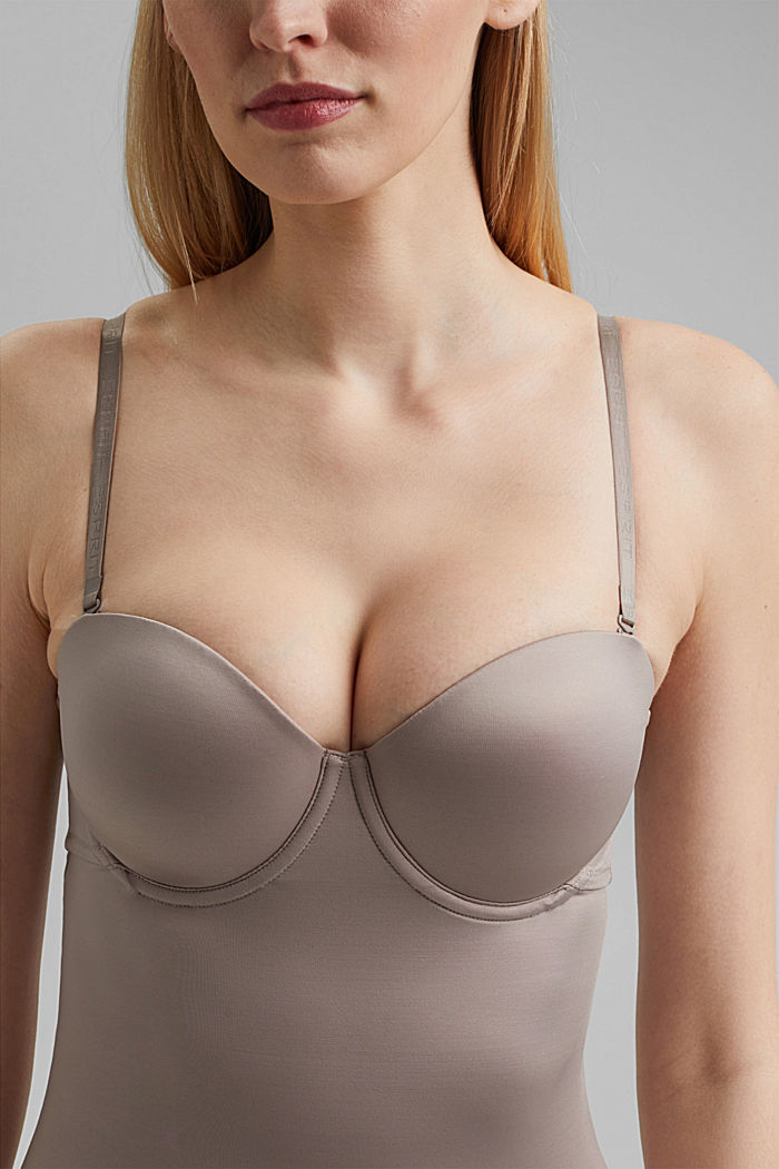 SHAPEWEAR chemise with underwire bra, LIGHT TAUPE, detail image number 2