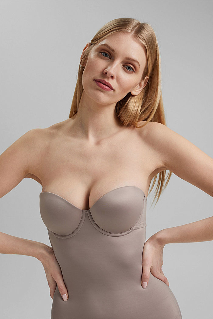 SHAPEWEAR chemise with underwire bra, LIGHT TAUPE, detail image number 3